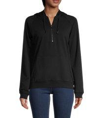 marc new york performance women's half-zip hoodie - black - size xs