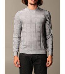 emporio armani sweater emporio armani sweater in checked viscose blend
