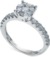 bouquet by effy diamond engagement ring in 14k white gold (3/4 ct. t.w.)