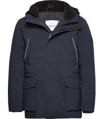 premium canvas technical jacket tunn jacka blå calvin klein