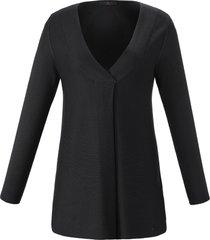 trui in wijd a-model lange mouwen van emilia lay zwart