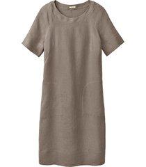 linnen jurk, gestippeld 44