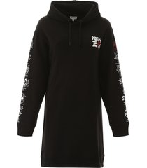 kenzo sweatshirt dress with graphic print