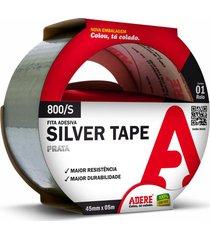 fita adesiva adere silver tape, prata, 4,5 cm x 5 metros - 800/s