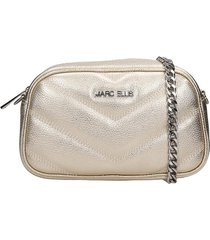 marc ellis bonnie clutch in gold leather
