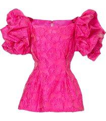 bambah ruffled tunic blouse - pink
