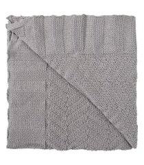 manta tricot empório - cinza