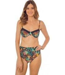 bikini sostén animal print multicolor ac mare