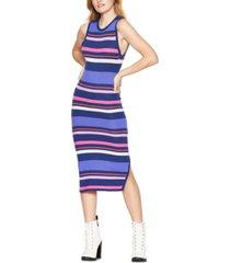 bcbgeneration striped midi sweater dress