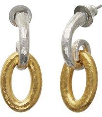 hoopla silver drop earrings