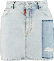 dsquared2 dalma denim mini skirt