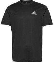 aeroready designed to move tee t-shirts short-sleeved svart adidas performance