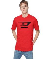 polera t just y4 t shirt 42a rojo diesel