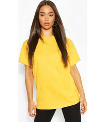 basic oversized boyfriend t-shirt, mustard