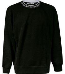acne studios neck logo sweater
