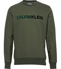 t on t logo sweatshirt sweat-shirt trui groen calvin klein