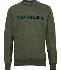 t on t logo sweatshirt sweat-shirt trui groen calvin klein