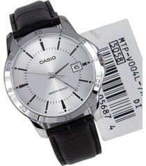 reloj casio caballero elegante mtp-v004l-7a color negro