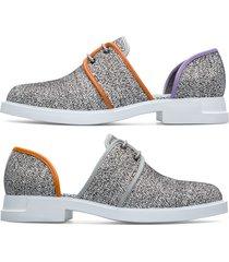 camper twins, zapatos planos mujer, blanco/negro/gris, talla 42 (eu), k200974-001