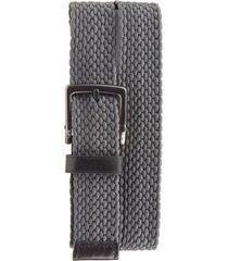 men's nike stretch woven belt, size 40 - dark grey
