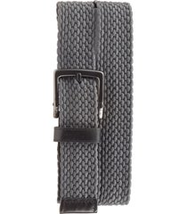 men's nike stretch woven belt, size 38 - dark grey