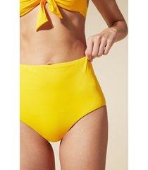 calzedonia indonesia high-waisted shaping bikini bottoms woman yellow size 5