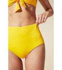 calzedonia indonesia high-waisted shaping bikini bottoms woman yellow size 4