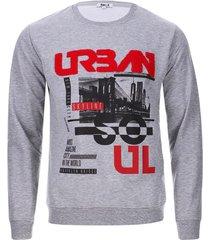 buzo urban color gris, talla l
