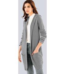 vest alba moda grijs::offwhite::zilverkleur