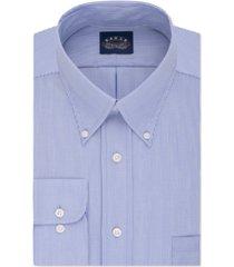 eagle men's big & tall classic-fit stretch collar non-iron blue stripe dress shirt