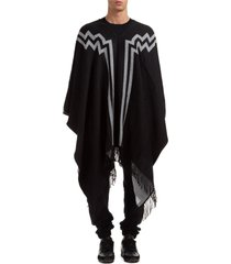 marcelo burlon rural cross poncho