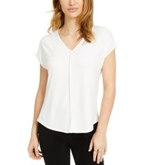 bar iii v-neck seamed t-shirt, created for macy's
