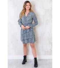 jurk met zebraprint mint