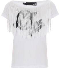 love moschino t-shirt with fringes