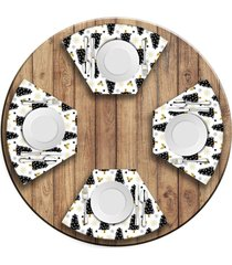 jogo americano   para mesa redonda wevans pinheiros  love decor