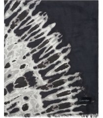 calvin klein tie-dyed ombre chiffon scarf