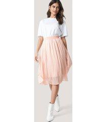 na-kd midi pleated skirt - pink