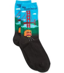 hot sox women's golden gate fashion crew socks