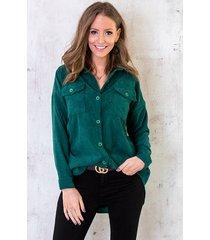 corduroy blouse smaragd