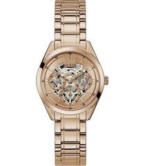 reloj guess clear cut gw0253l3 - oro rosa