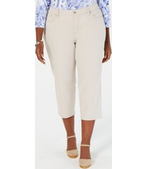 charter club plus size capri pants, created for macy's