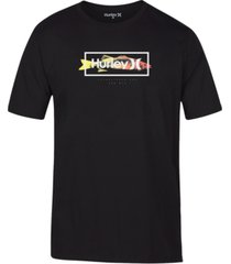 hurley men's fish logo t-shirt