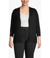 lane bryant women's open front cardigan 18/20 black