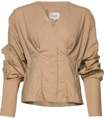 addison shirt blouse lange mouwen beige second female