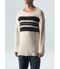 sweater tricot pranchão e- cru/preto