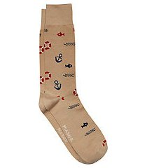 travel tech fisherman dress socks, 1-pair