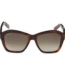 55mm squared geometric sunglasses
