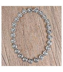 sterling silver link necklace, 'olé' (mexico)