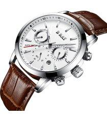 reloj b ray 9004 cronografo - café