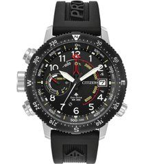 citizen eco-drive men's promaster altichron black rubber strap watch 46mm